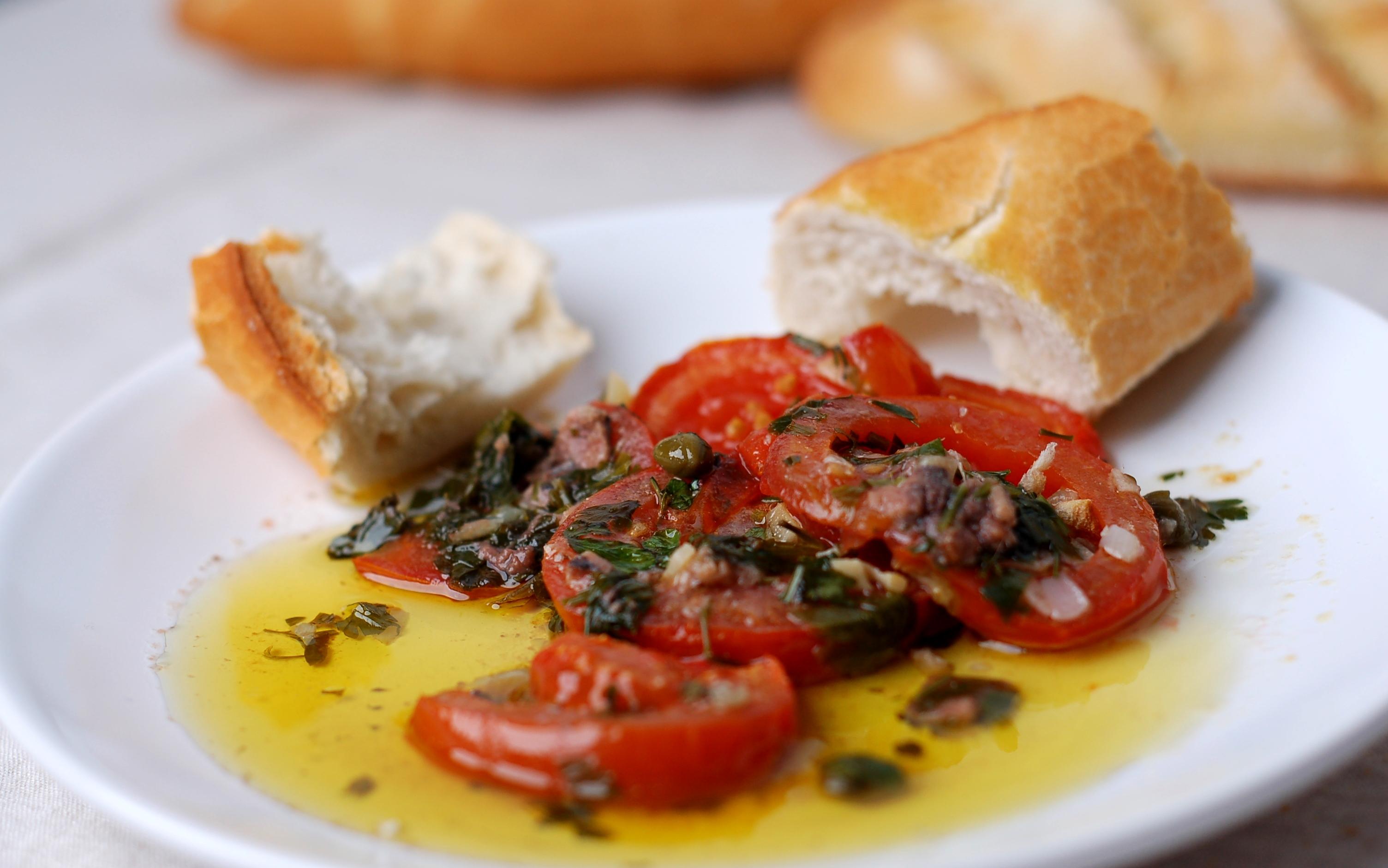 Los tomates aliñados con anchoas de Igg's